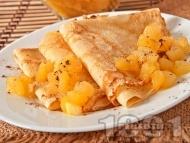Френски палачинки с пълнеж от карамелизирани ябълки